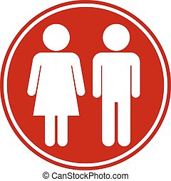 Male and Female button on white background Vector...
