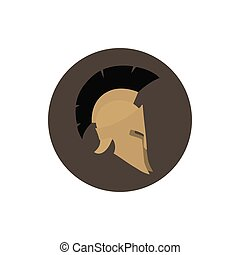 Icon helmet , vector illustration