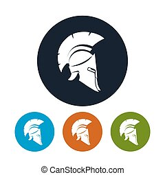 Antique helmet icon, vector illustration - Helmet icon, the...