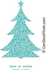 Vector abstract underwater plants Christmas tree silhouette...