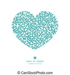 Vector abstract underwater plants heart silhouette pattern...