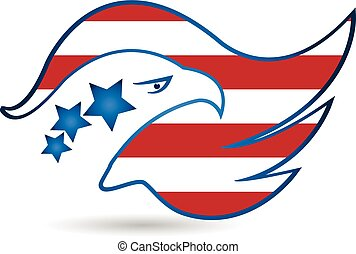 American Eagle Flag logo vector