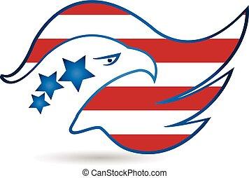 American Eagle Flag logo vector