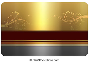 Business card template - Template of gold business card with...