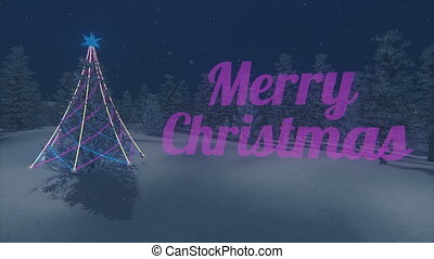 Iridescent Christmas text Loop - Rainbow Merry Christmas...