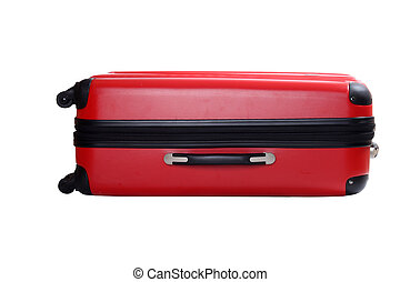 Isolated red suitcase