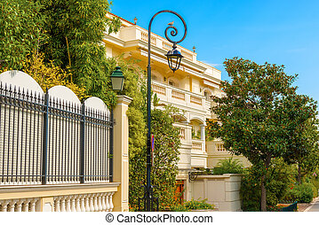 House in Monaco ville. - View at the house in Monaco ville.