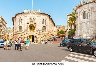 Monaco-ville street - Monaco ville, Monaco - September 5,...