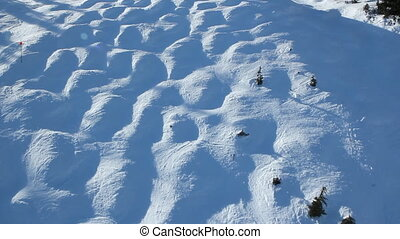 Moguls. - View of moguls from chairlift. Vancouver, BC,...