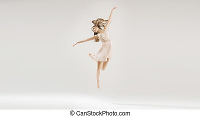 Young beautiful and talented ballet dancer - Young pretty...