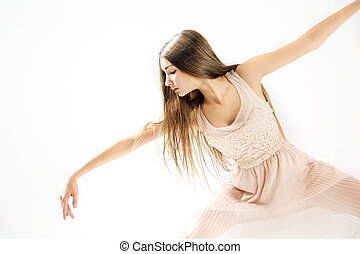 Young, delicate and talented ballet dancer - Young, pretty...