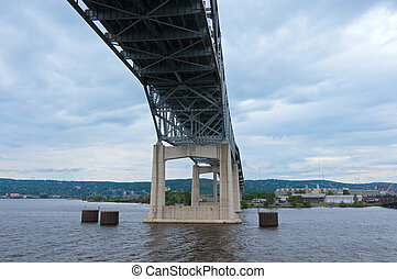 Bridge Spanning Saint Louis Bay in Duluth - Blatnik bridge...