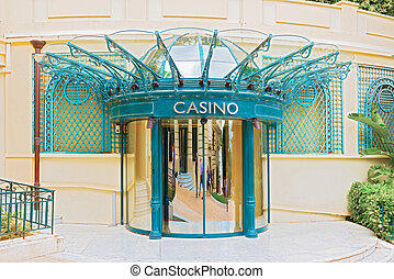 Doors to casino in Monte Carlo - Revolving side doors into...