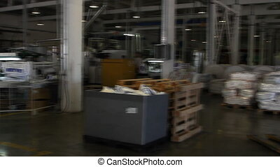 People work in large warehouse - VOLZHSKY - OCTOBER 27:...