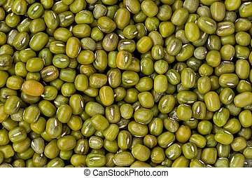 Mung Beans Vigna radiata - Background texture of mung beans...
