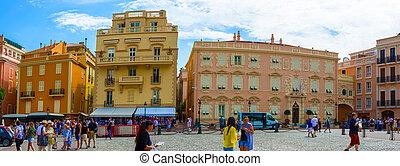 Monaco - Architecture of principality - Monaco Ville, Monaco...
