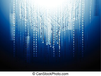 Dark blue circuit board tech background Vector design