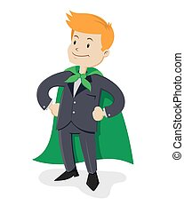 Super Businessman - A vector illustration of a businessman...