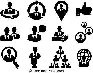 Business Man Icon Set for Human Resource - Vector...