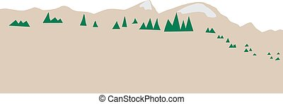 Abstract Mountain Range - Abstract background of subarctic...
