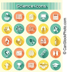 Science Icons Silhouettes
