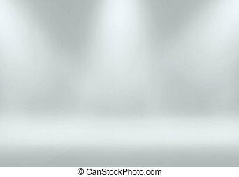 Spotlight in studio of Backgrounds