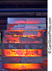 Stack of steel plate