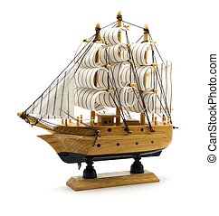 Sailing Boat Model - Isolated photo of a model sailing boat