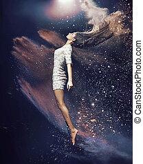 Slim and fit ballet dancer - Slim, fit ballet dancer among...