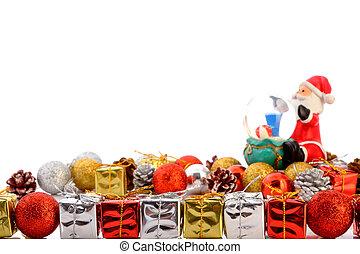 regalos, con, navidad, Colección, aislado, en,...