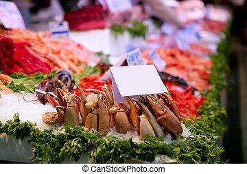 pez, Mercado, españa, mariscos, hielo