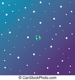 Our Planet Is Small - An illustration depicting that earth...