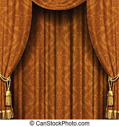 Yellow-brown curtain