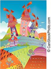 Cheerful village,