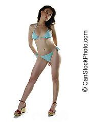 Girl In Bikini Posing