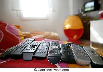 many remote control for only one house, excess technology...