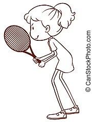 A tennis player