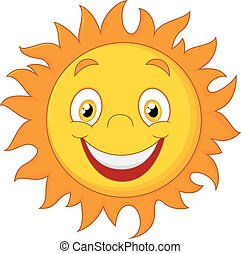 Happy cartoon sun - Vector illustration of Happy cartoon sun...
