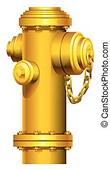A fire hydrant on a white background
