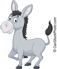 Cartoon donkey - Vector illustration of Cartoon donkey