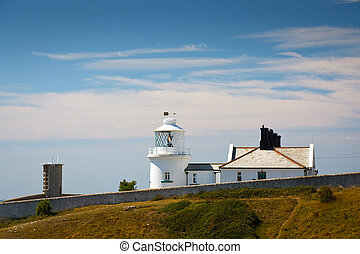 Anvil Point lighthouse, Dorset - Anvil Point lighthouse in...