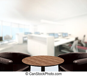Wood Table Background in Office - Wood Table Of Background...