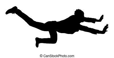 Stuntman Shape - Young Smart Boy Doing Action Vector...