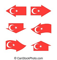 Flag of the Turkey in form arrows