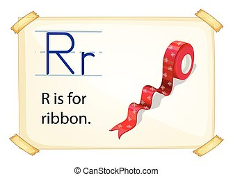 Letter R - Poster of an alphabet R