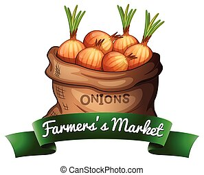 Farmers's market - Banner of a market that sells vegetables