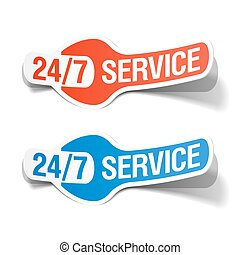 24 hours a day service sticker illustration