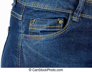 Blue Jeans pocket,denim texture