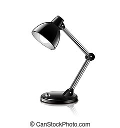 Table Lamp isolated on white vector