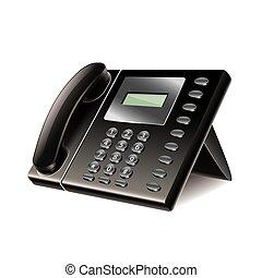 Office phone isolated on white vector